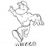 Cartoon of person name Buff.