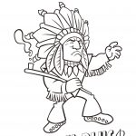 Cartoon of person name Chief.