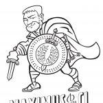 Cartoon of gladiator name Maximus.
