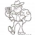 Cartoon of a sheriff.