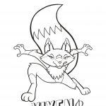 Cartoon of fox name Vixen.